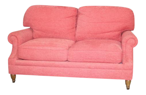 Custom Kravet Furniture Dark Pink Loveseat