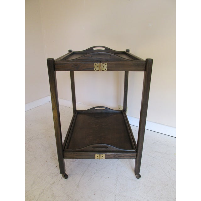 Image of Vintage English Campaign Style Tray Table