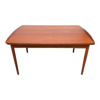 Povl Dinesen Teak Expandable Dining Table, 1950s, Denmark