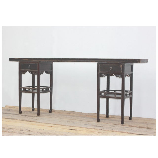 Antique Sarreid LTD Ming Style Console Table - Image 2 of 5