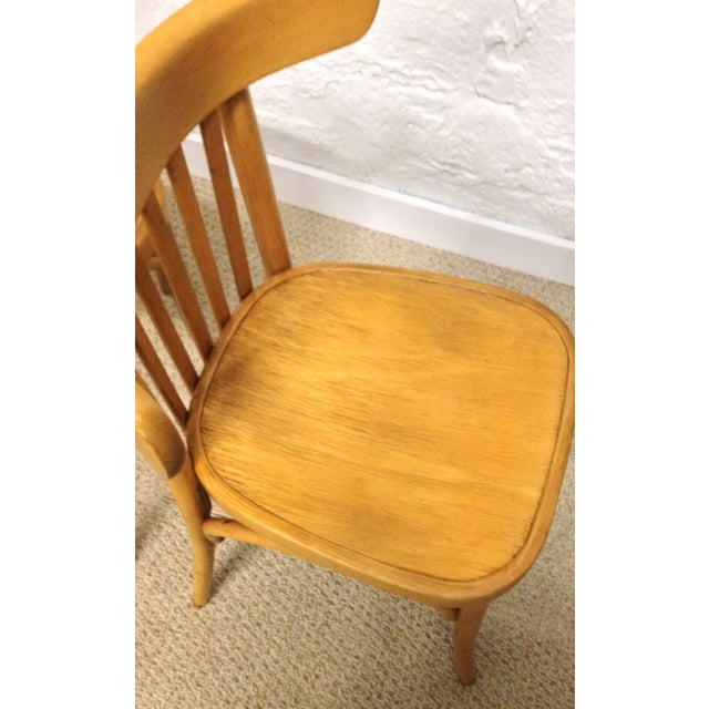 Vintage Bentwood Slat Back Chairs - A Pair - Image 3 of 5