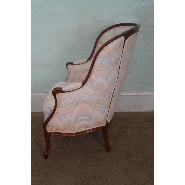 Large 1920s French Louis XV Style Bergere Chair - Image 3 of 10