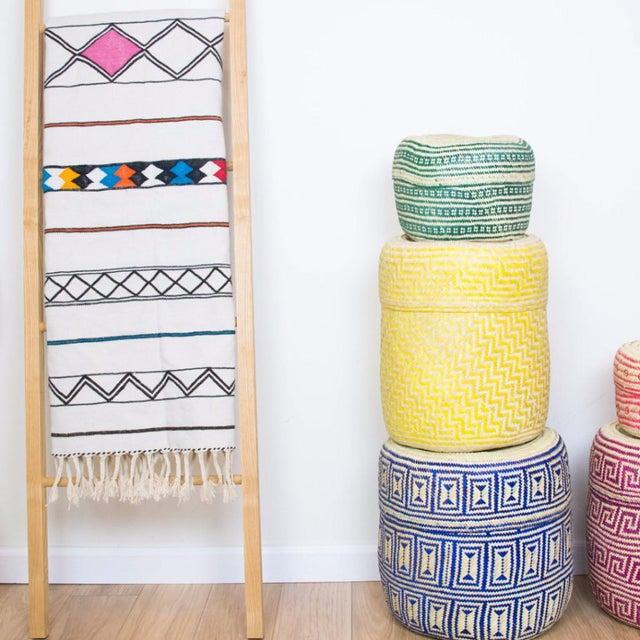 Green Handmade Oaxacan Jarrito Basket - Image 4 of 4
