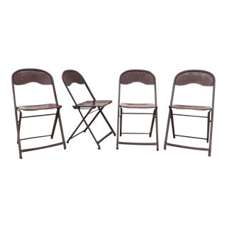 1950's Metal Folding Chairs - Set of 4