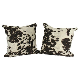 Faux Cowhide Pillows - A Pair