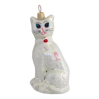 "Christopher Radko ""Felina's Heart"" Glass Ornament c. 1998"