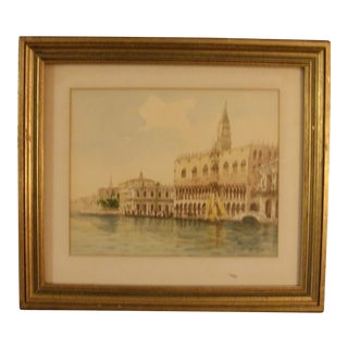1950's Giorgi Watercolor Painting