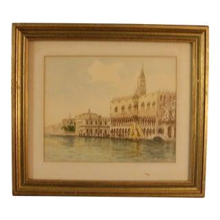1950's Giorgi Watercolor Painting