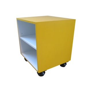 Yellow Cube Side Table