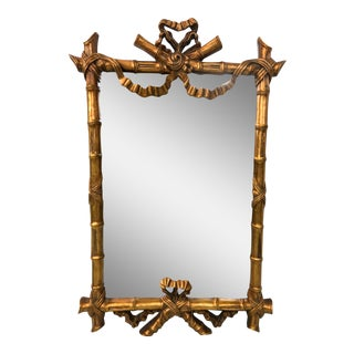 Gilt Faux Bamboo French Style Mirror