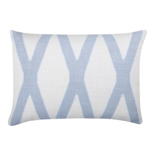 """Piper Collection Pale Blue Cotton """"Dominick"""" Pillow"""