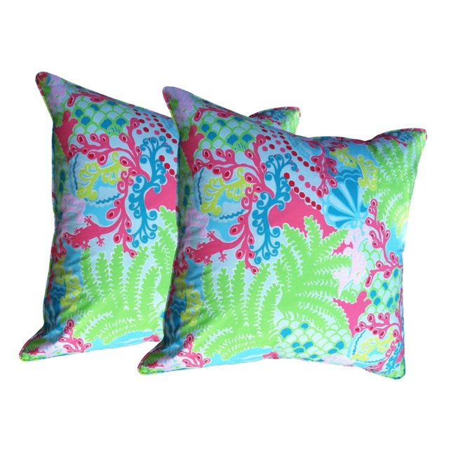 Lily Pulitzer Bright Throw Pillows - A Pair - Image 1 of 3