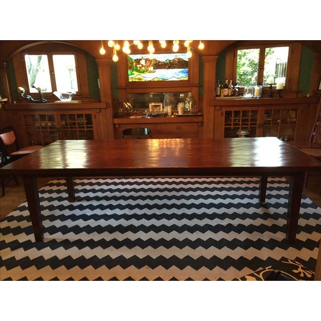 custom made wood dining room table chairish. Black Bedroom Furniture Sets. Home Design Ideas