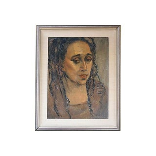 Vintage Oil Portrait Painting Titled Brenda