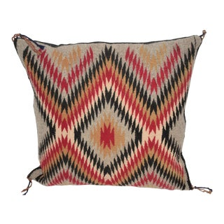 Fantastic Geometric Navajo Indian Weaving Pillow