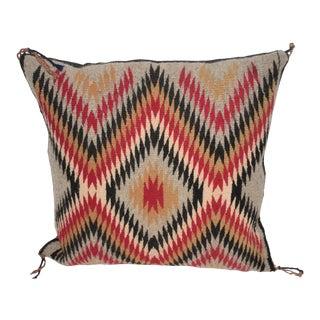 Fantastic Geometric Navajo Indian Weaving Pillow