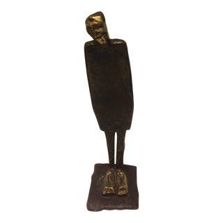 """""""Leaning Man"""" Bronze Sculpture"""