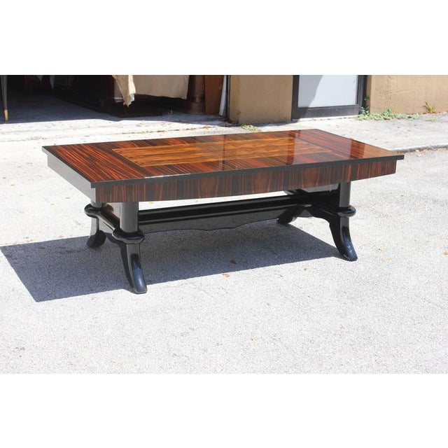 Grand Scale French Art Deco Exotic Macassar Ebony Coffee Cocktail Table 1940s Chairish