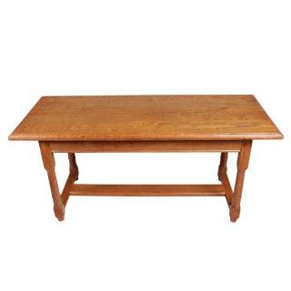 Oak Trestle Coffee Table