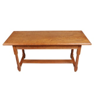 Oak Trestle Coffee Table