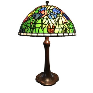 14 0 h glenview il gorgeous art deco antique handel piano lamp. Black Bedroom Furniture Sets. Home Design Ideas
