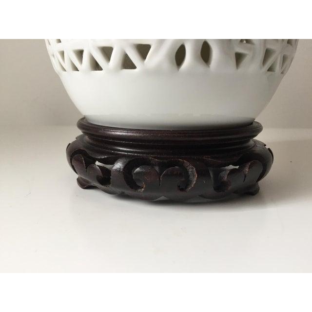 Vintage blanc de chine table lamp chairish for Table de chine