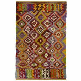 Vintage Turkish Kilim Flatweave - 4' x 6'