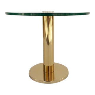 Brass and Glass Side Table by Pace Collection