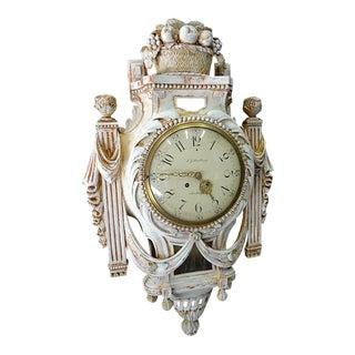 Swedish Gustavian Cartel Wall Clock
