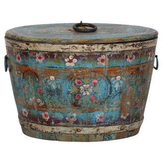 Hand-Painted Wood Bucket