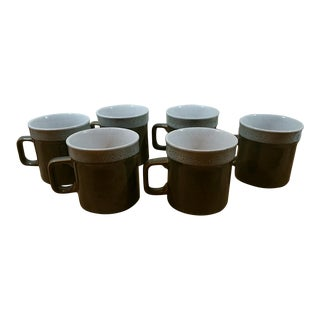 Rhythm Stoneware Coffee Mugs - Set of 6