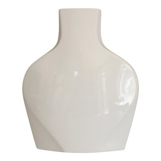 Rosenthal Studio Line White Ceramic Vase Modernist Post Modern