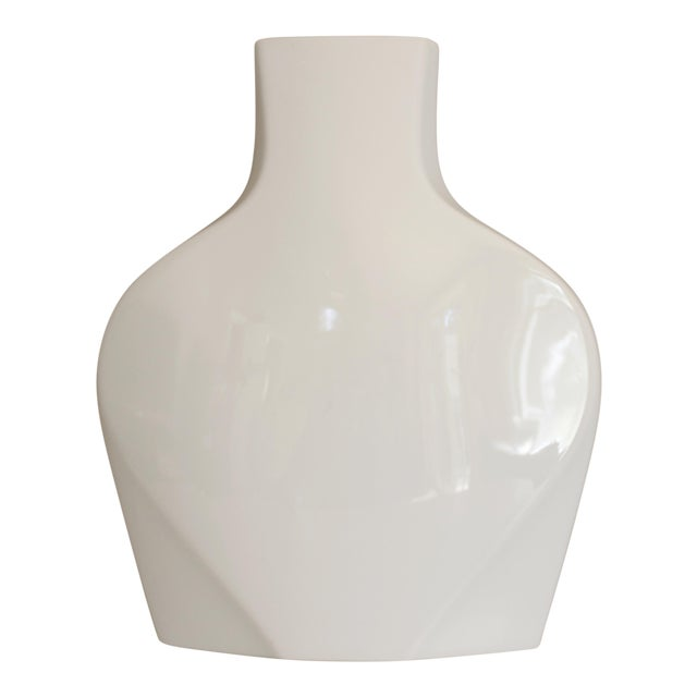 Rosenthal Studio Line White Ceramic Vase Modernist Post Modern - Image 1 of 5