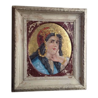 Framed Mosaic Portrait Of A Woman