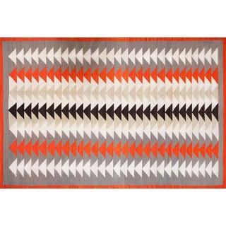 Modern Navajo Style Wool Rug - 6′ × 9'