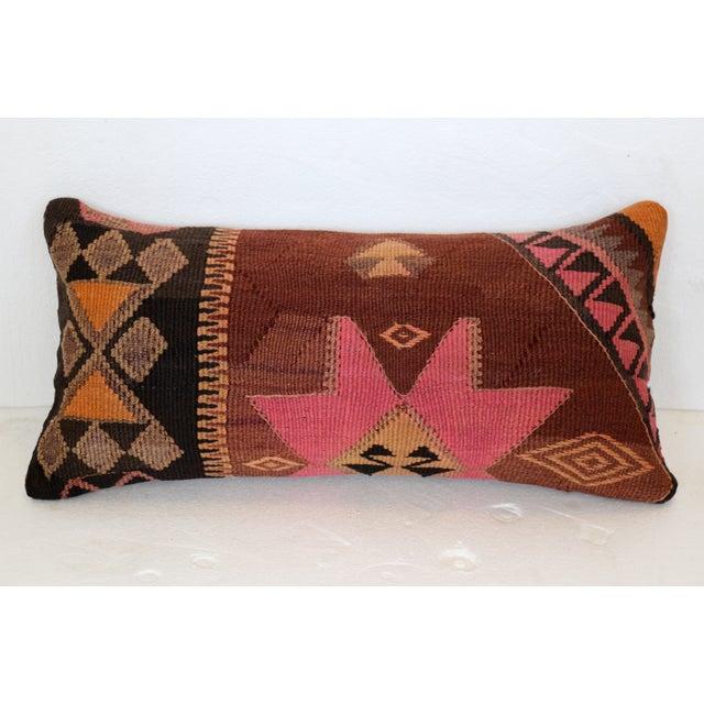 Image of Brown & Pink Turkish Kilim Cushion