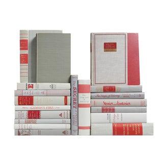 Mid-Century Graphite & Garnet Books- Set of 20