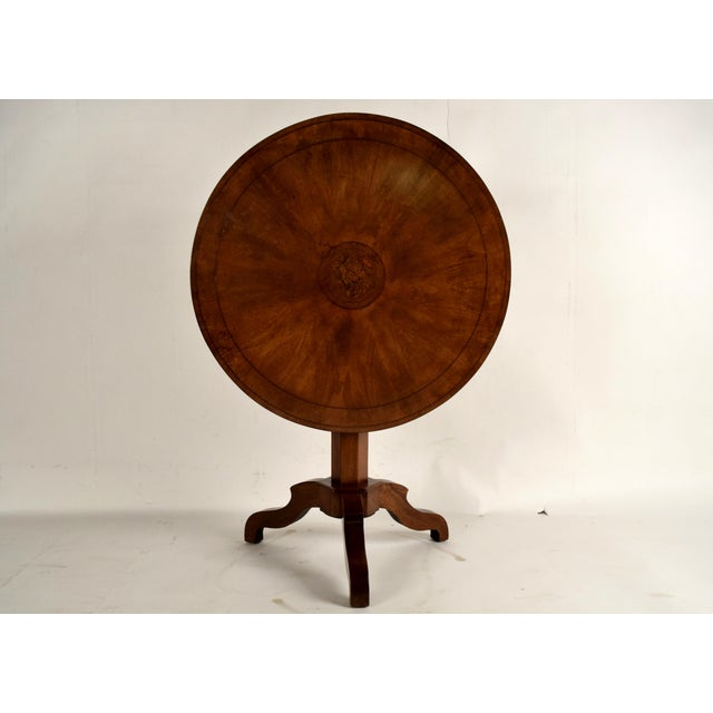 Image of French Antique Louis Philippe Tilt-Top End Table