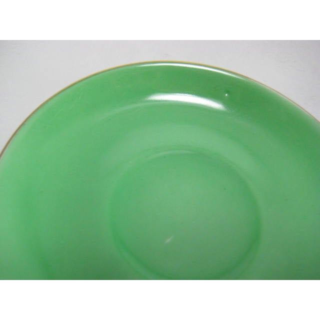 Green Demitasse Cups & Saucers by Morimura - 8 Pieces - Image 11 of 11