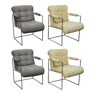 Milo Baughman Chrome Armchairs - Set of 4