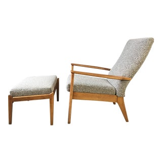 Parker Knoll British Upholstered Lounge Chair & Ottoman