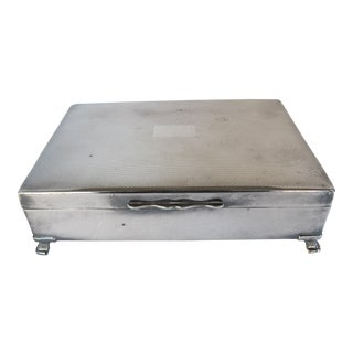 English Silver-Plate Card Box