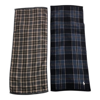 Ralph Lauren Tartan Plaid Polo Hand Towels