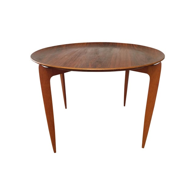 Image of Fritz Hansen Danish Modern Folding Tray Table