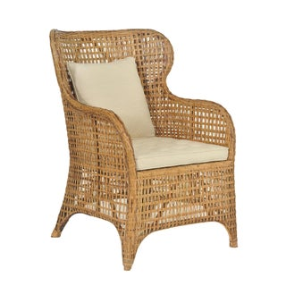 Selamat Designs Tangier Natural Rattan Wing Chair