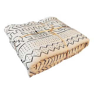 Black & White Mali Mud Cloth Textile