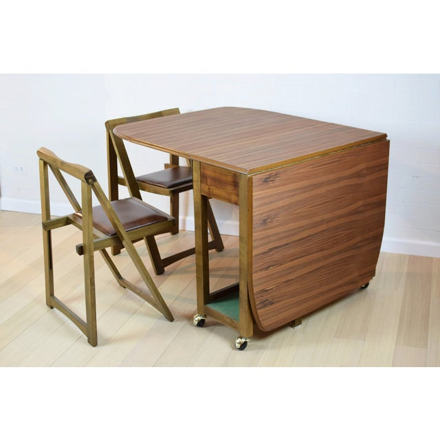 Mid-Century Danish Folding Dining Table & Chairs - Image 4 of 10