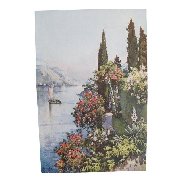 1905 Ella du Cane Print, Villa Giulia, Lago di Como - Image 1 of 5