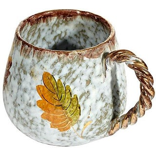 Italian Rope Handled Ceramic Mug