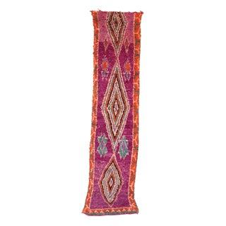 """Vintage Boujad Moroccan Rug - 2'7"""" x 11'11"""""""